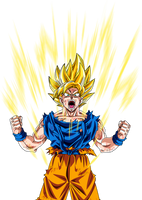 goku super saiyan by maffo1989