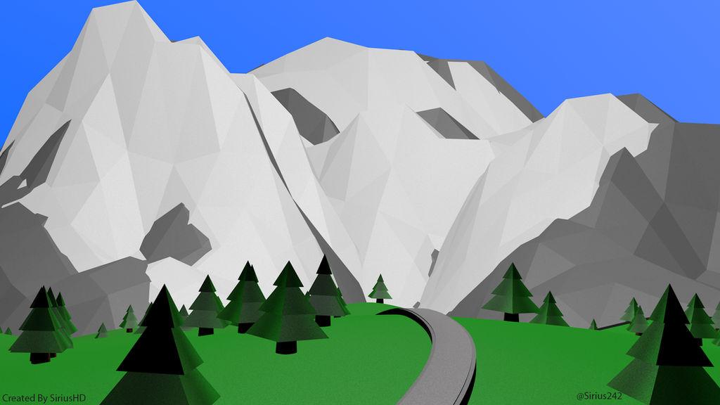 Low poly Mountain by SiriusHD