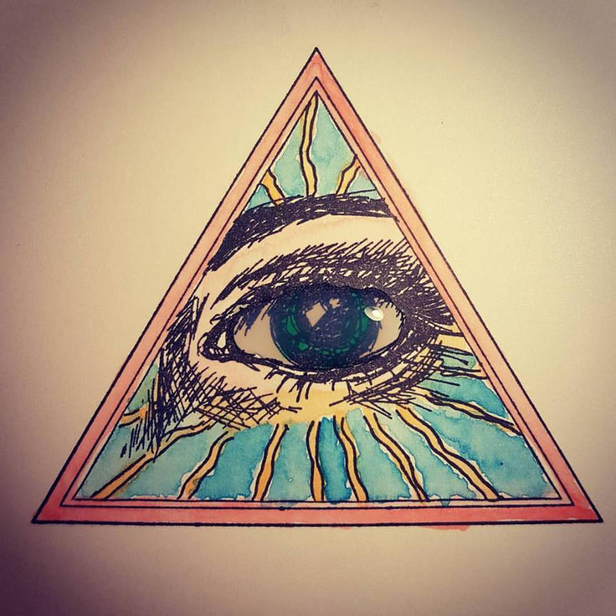 Eye in the triangle by hermanubis93