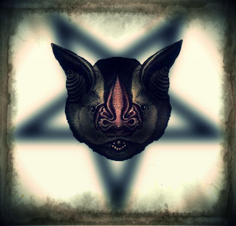 Bat pentagram by hermanubis93