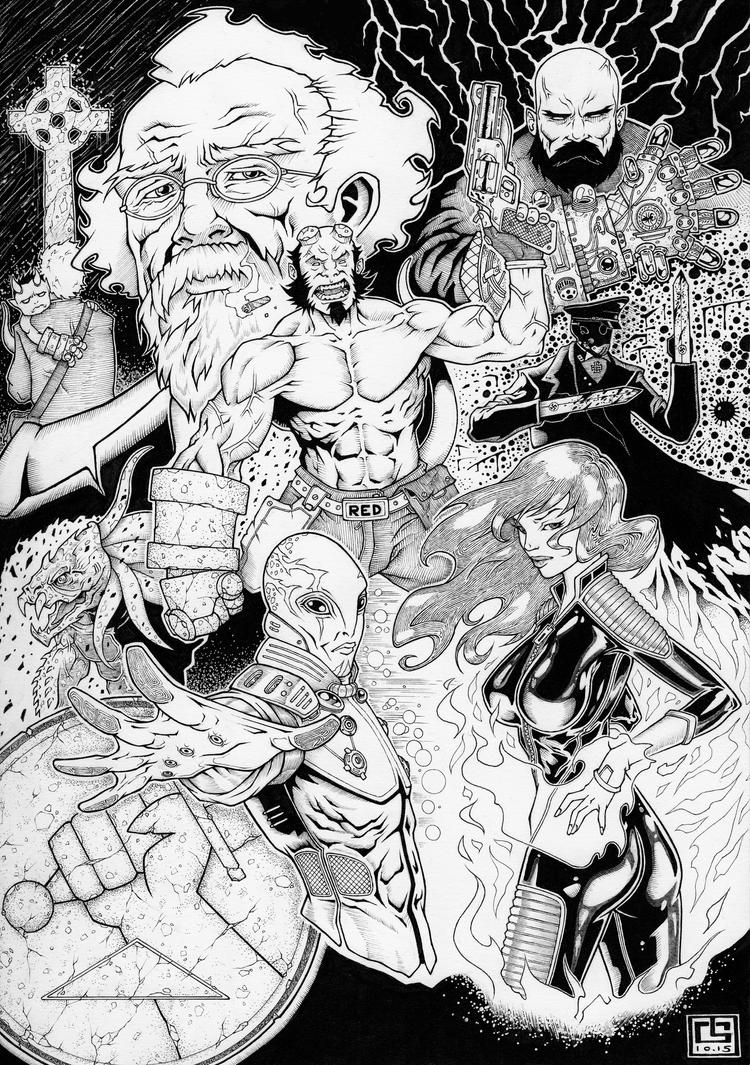 Hellboy by Guiguyoumou