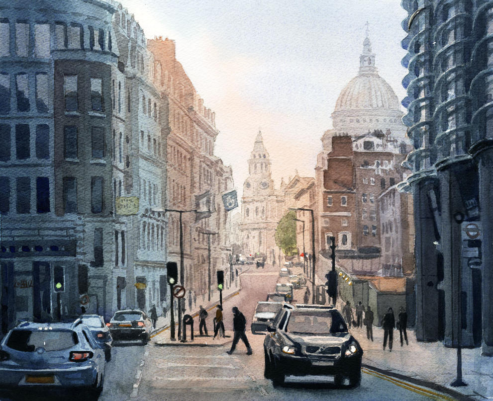 Cannon St Evening View by treeshark