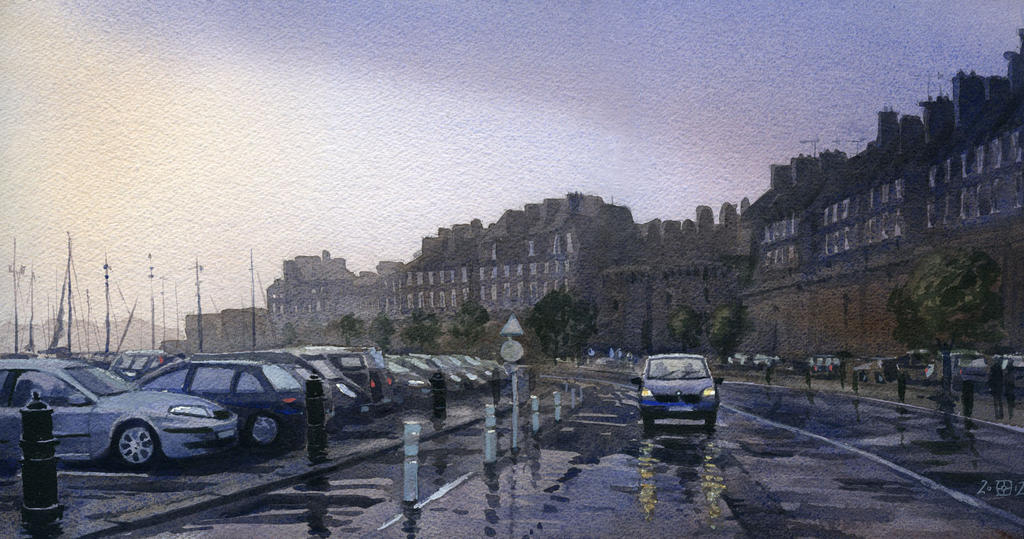 A Small Car in St Malo by treeshark
