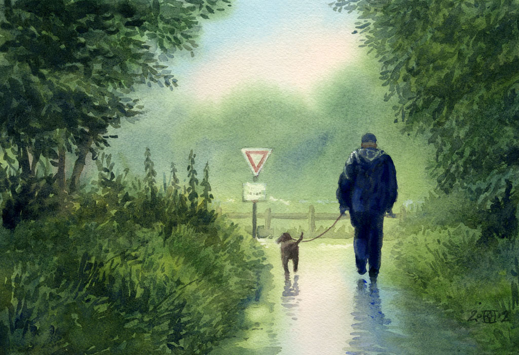 Walking The Dog by treeshark