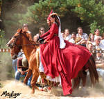 Medieval dance on horses1