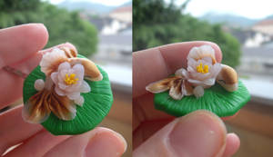 Tancho Gold: hairpins details by MorriganAlita