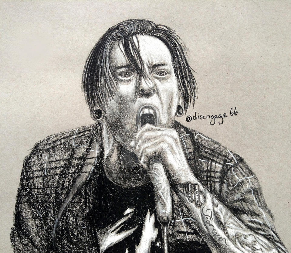 Charcoal Drawing - Telle Smith (The Word Alive) by ThrowYourRoses