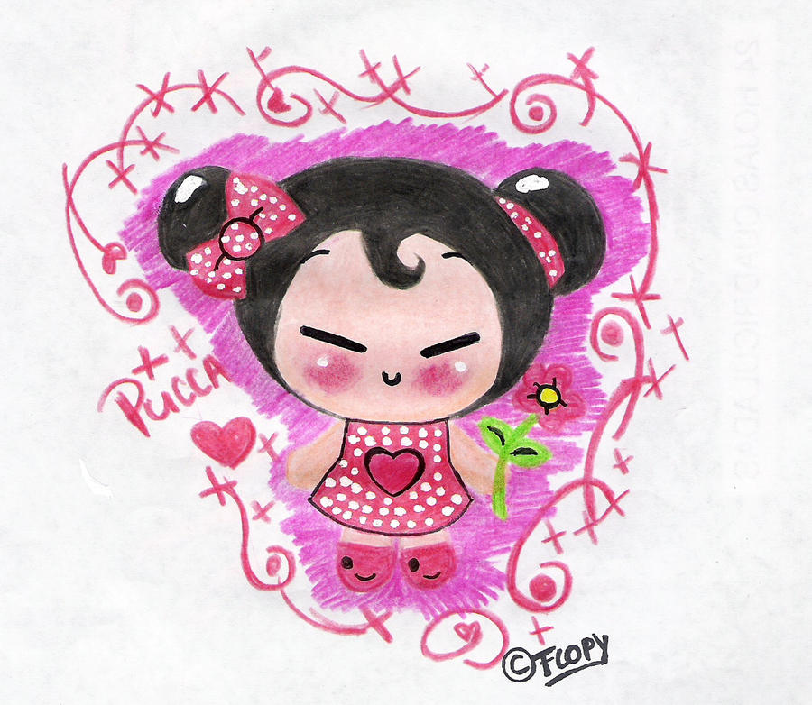 Pucca with pencils by FlopyLopez on deviantART
