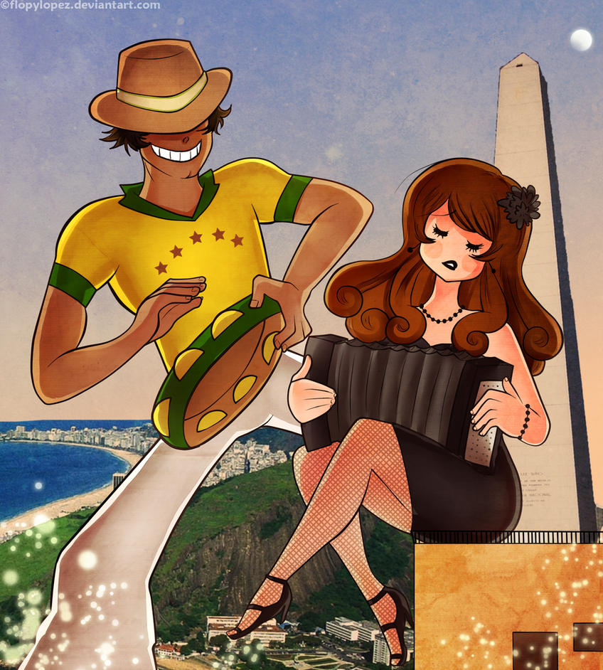 Brazilian happiness and Argentine melancholy by FlopyLopez