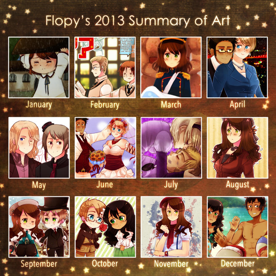 2013 Summary of Art by FlopyLopez