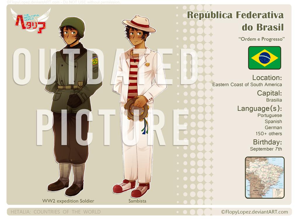 Hetalia OC: Brazil by FlopyLopez