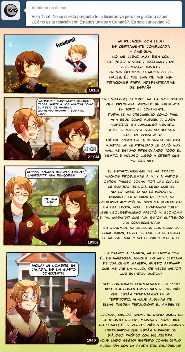 Ask Argentina and friends 15: USA and Canada by FlopyLopez