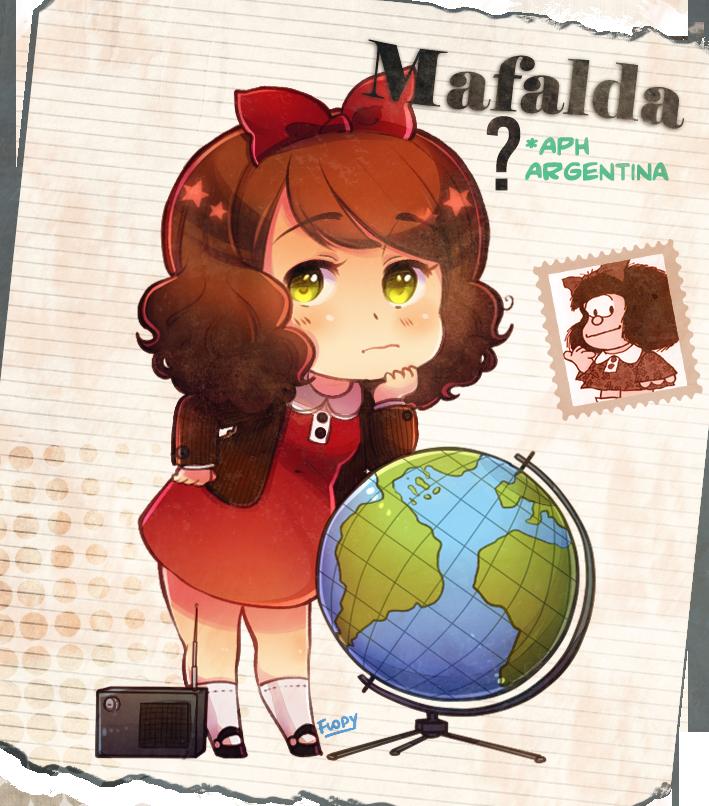 APH Argentina as Mafalda!! by FlopyLopez