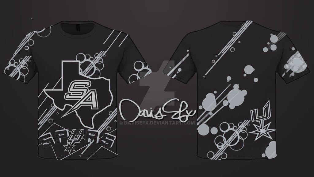 San Antonio Spurs T Shirt Design By Davisefx On Deviantart