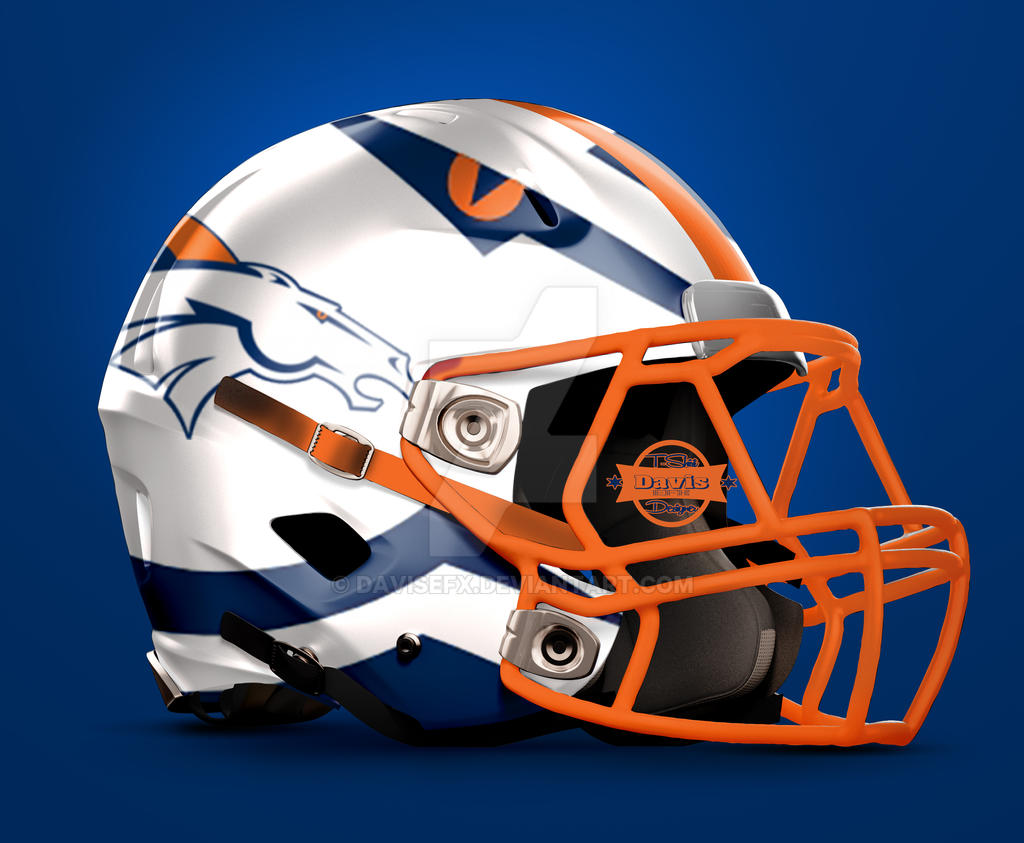 Denver Broncos Football Helmet Design By Davisefx On