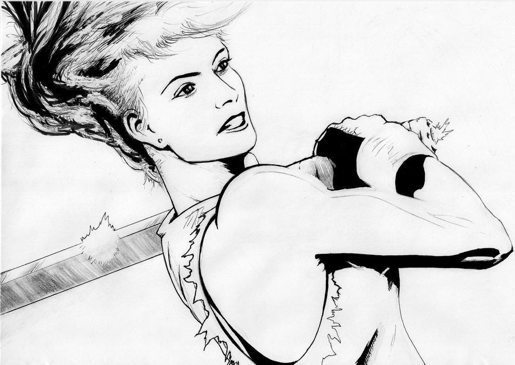 Finishing Stroke line art sketch by LaYoosh