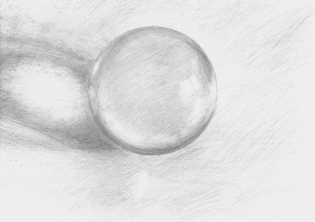 Transparent glass orb 3 by LaYoosh