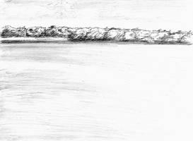 Lake sketch by LaYoosh