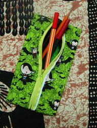 Kawaii chibi vampire pencil case by lecoeurblanc