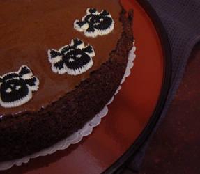 Mousse au chocolat cake by lecoeurblanc