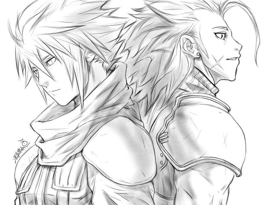 Cloud and Zack by SantaFung