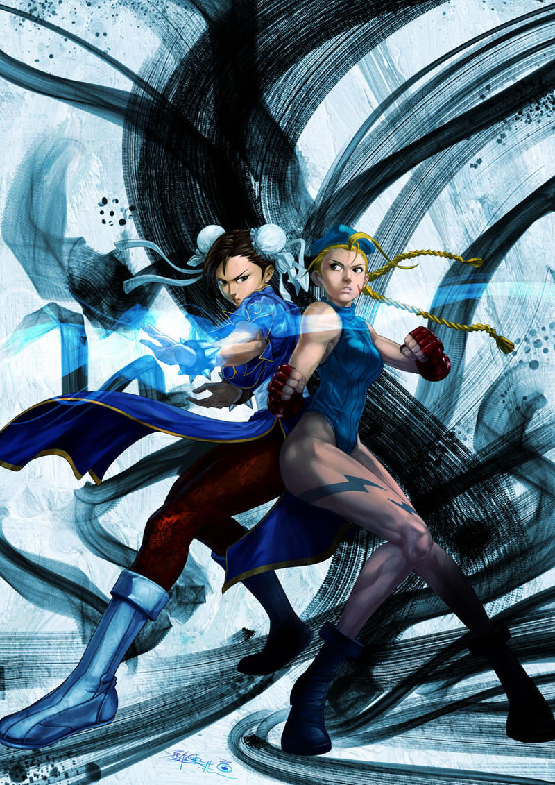 Chun-Li and Cammy by SantaFung