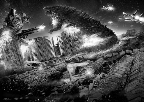 Eva vs Godzilla
