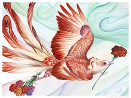 Birdflowers: Carnation - Jan. by windfalcon