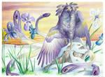 Birdflowers: Iris - February