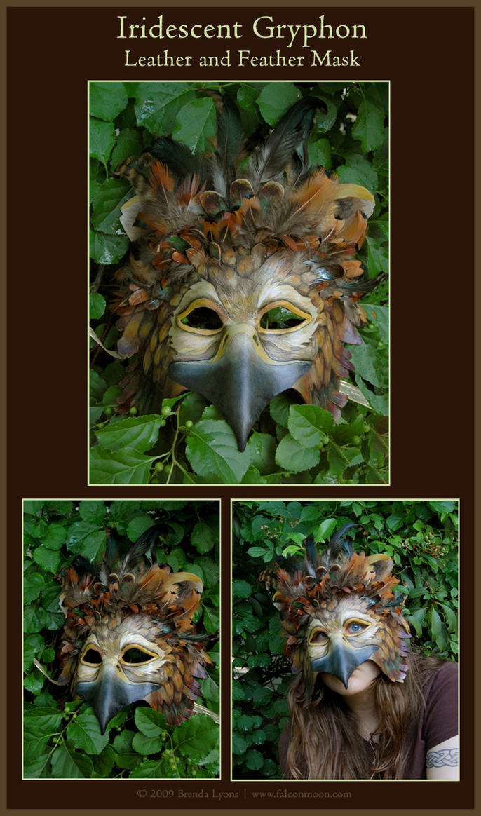 Gryphon Leather, Feather Mask by windfalcon