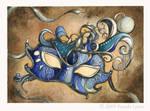 Mask - Stone Watercolor