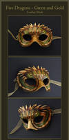 Five Dragons - Leather Mask