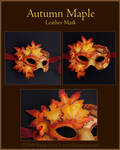 Autumn Maple - Leather Mask