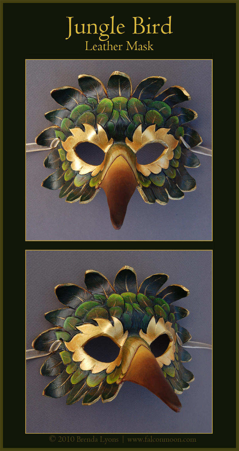 Jungle Bird - Leather Mask by windfalcon