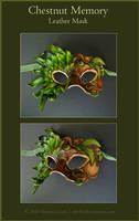 Chestnut Leather Mask by windfalcon