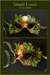 Simple Leaves - Leather Mask