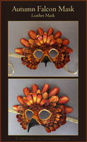 Autumn Falcon Leather Mask by windfalcon