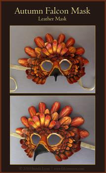 Autumn Falcon Leather Mask