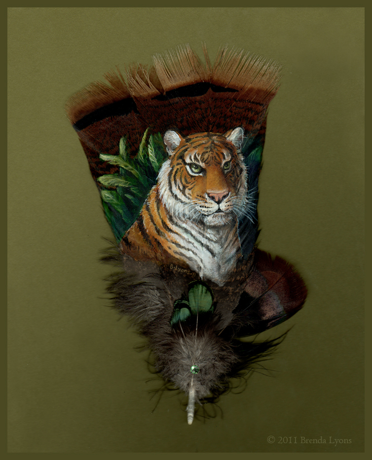Tiger - Painted Feather