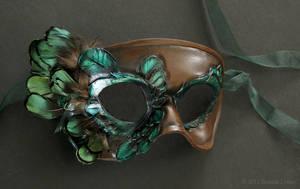 Elegant Bird Leather Mask