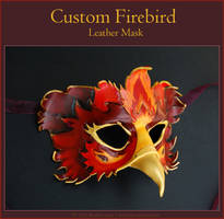 Custom Firebird - Leather Mask by windfalcon