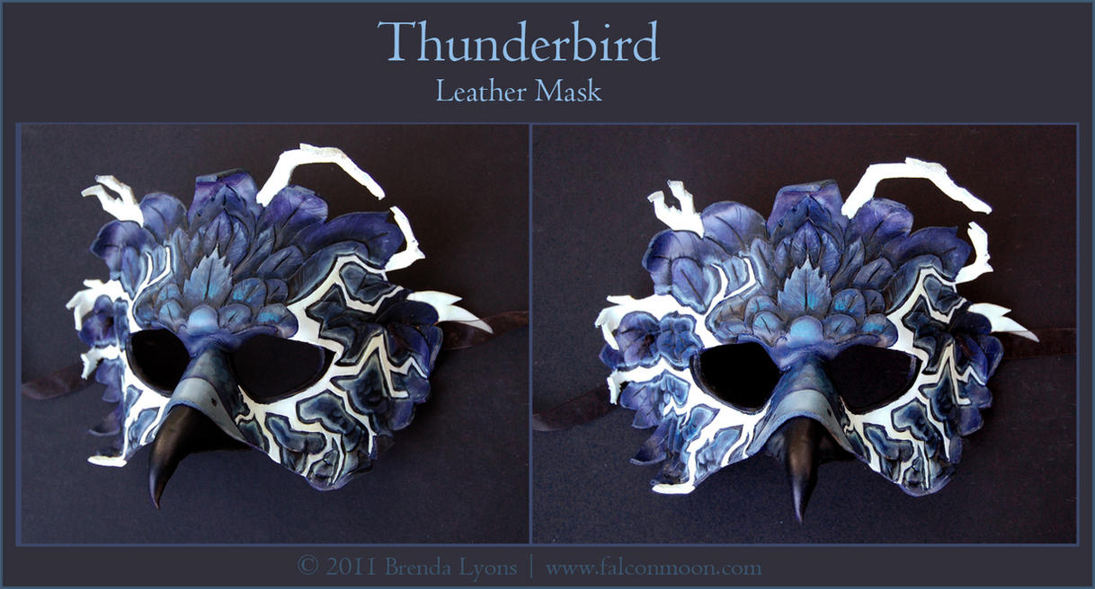 Thunderbird - Leather Mask by windfalcon