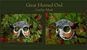 Great Horned Owl -Leather Mask