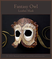 Fantasy Owl - Leather Mask by windfalcon