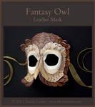 Fantasy Owl - Leather Mask