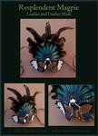 Resplendent Magpie - Leather Mask