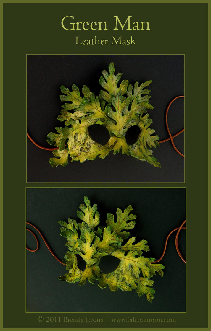 Green Man - Leather Mask by windfalcon