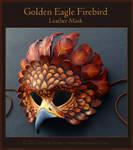 Golden Eagle Firebird - Leather Mask