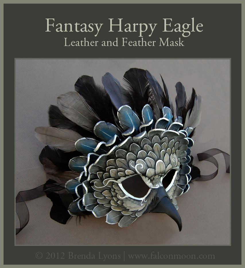 Fantasy Harpy Eagle - Leather Mask by windfalcon