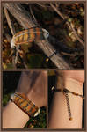 Young Red-Tailed Hawk Feather - Leather Bracelet